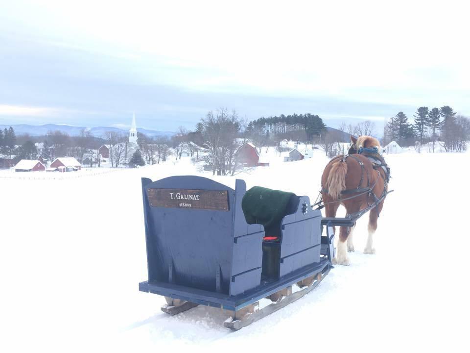 Sleigh rides in Peacham Vermont