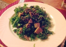 Kale barley apple salad at Rabbit Hill Inn