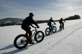 Fat biking at Kingdom Trails