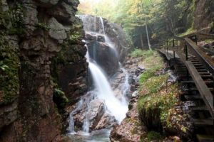 Flume Gorge waterfalls NH