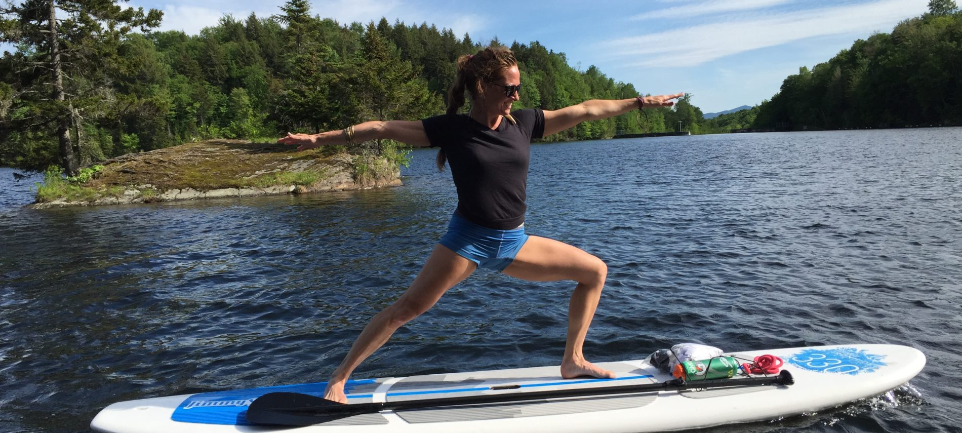 Paddle boarding in Vermont