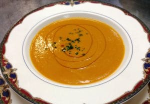 Heirloom Tomato bisque soup recipe at Rabbit Hill Inn Restaurant in Vermont