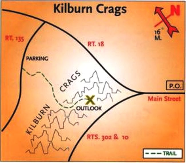 Kilburn Crags Trail. North country hike trails Littleton New Hampshire. Hike trails near Rabbit Hill Inn