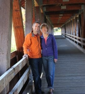 Covered bridge in Littleton New Hampshire