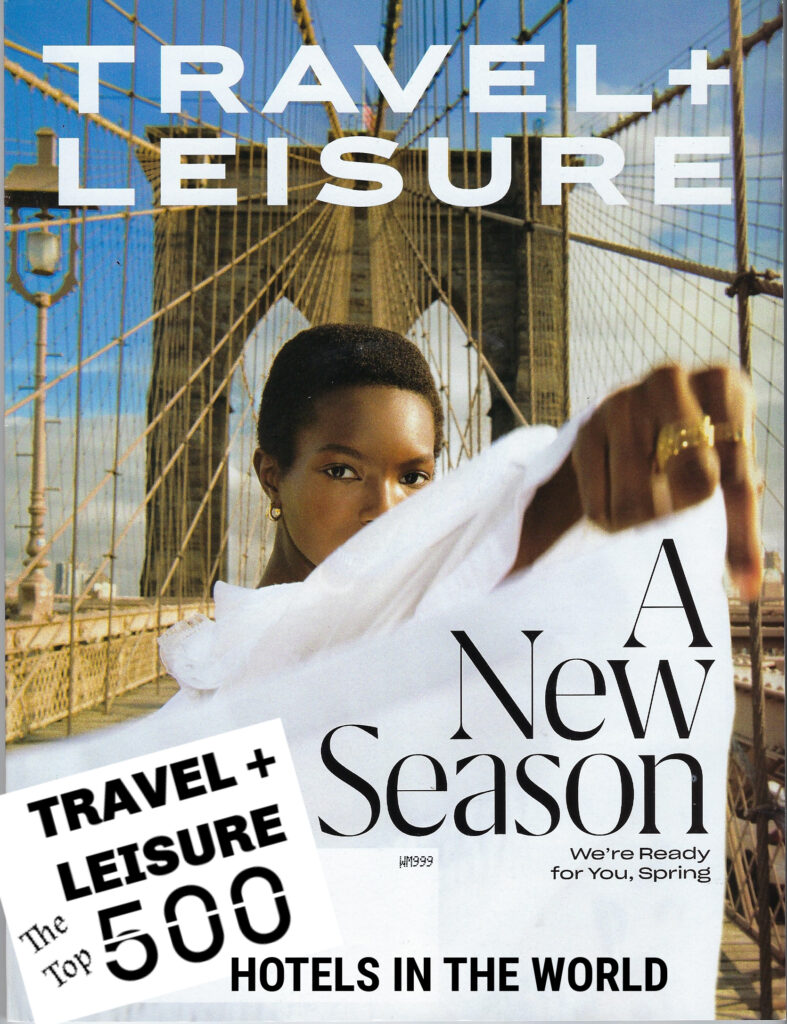 woman on cover of travel magazine