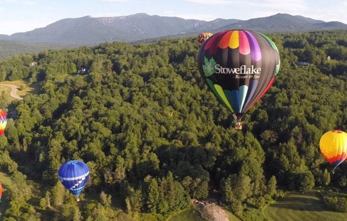 Stoweflake Hot Air Balloon Festival Stowe Vermont