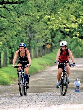 Mountain biking in East Burke, Vermont along the Kingdom Trails Network.
