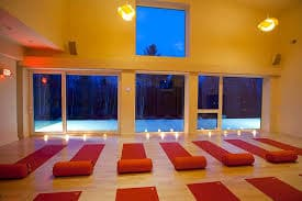 yoga mats on the floor in Balance Bethlehem Yoga Studio