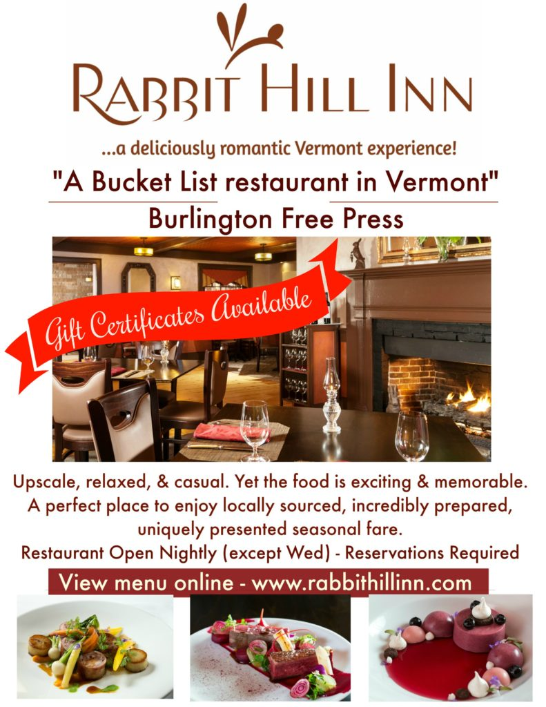 Rabbit Hill Inn Best restaurant in St. Johnsbury Vermont