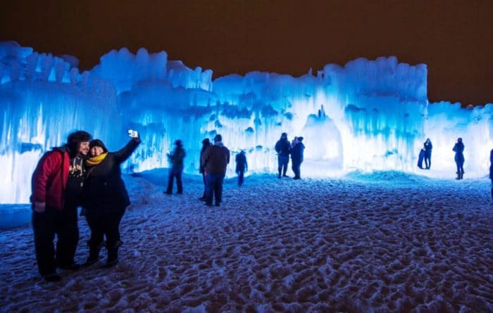 Ice Castles at Loon Mountain Lincoln New Hampshire