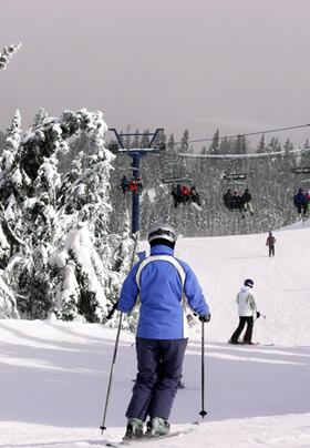 Skiing at Burke Mountain near Rabbit Hill Inn