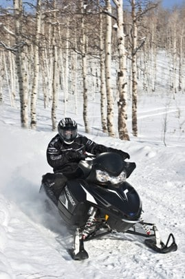 snowmobiling with NEK Adventures near Rabbit Hill Inn